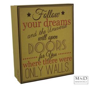 Follow your dreams Vintage 35 box