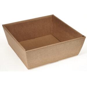 Kartonnen mand vierkant kraft 26x26x10cm