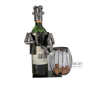 ober kurk- en wijnfleshouder