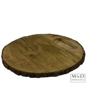 Mango plank rond boomschijf
