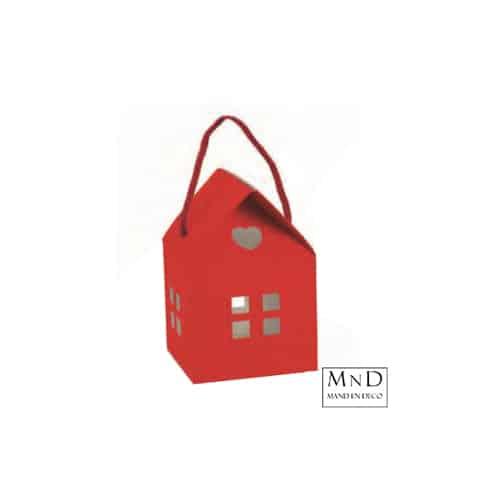 huisje rood karton