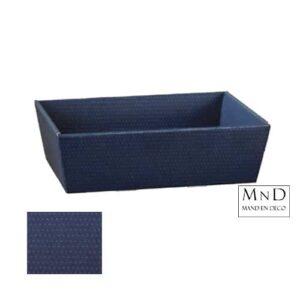 karton verpakking donker blauw