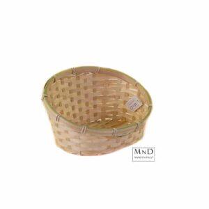 bamboe mand met hoge rug