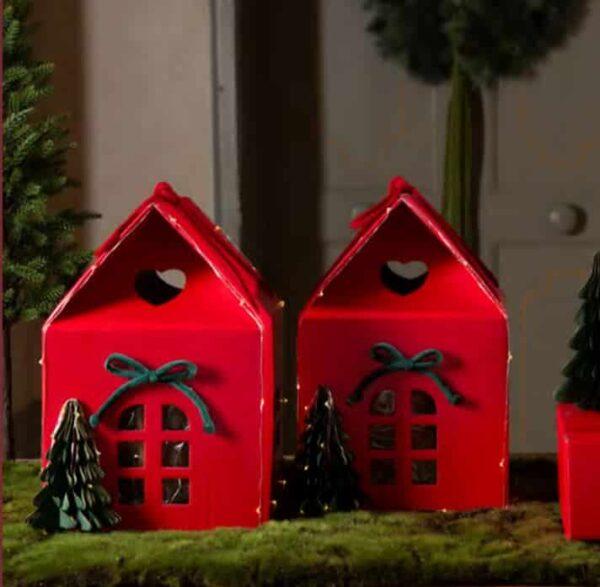 huisje rood voor verpakking