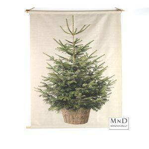 kerstboom op doek