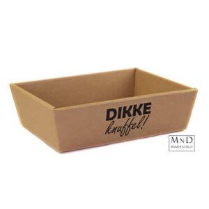 Kartonverpakking met tekst: dikke knuffel