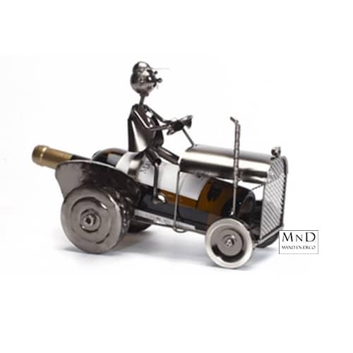 Traktor wijnfleshouder